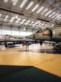 Fighter jets in a aviation museum royalty free stock photography