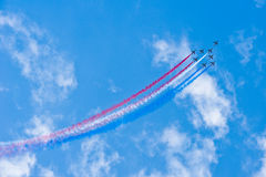 Fighter Jets During Acrobation Royalty Free Stock Photo