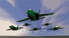 Fighter jets like flies Stock Photos