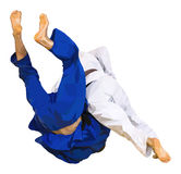 Fighter judo throw for ippon Royalty Free Stock Photo