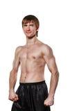 Fighter kickboxing Stock Image