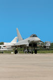 Fighter landing Royalty Free Stock Photo