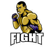 Fighter Logo Royalty Free Stock Image