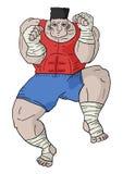 Fighter man Stock Photo