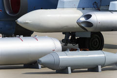 Fighter missiles and bombs Stock Photography