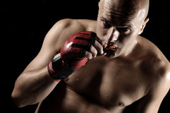 The Fighter. Mixed Martial Arts Fighter With Mouthguard Royalty Free Stock Photo