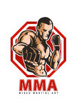 Fighter mma. Mixed martial art fighter pose Stock Photography