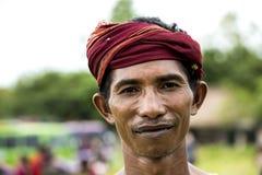 Fighter of Pasola Festival, Kodi, Sumba Island, Nusa Tenggara Royalty Free Stock Image