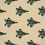 Fighter pattern illustration. Creative and military style image royalty free illustration