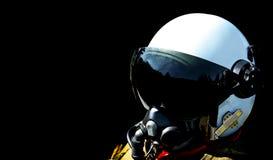 Fighter pilot stock photo