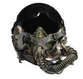Fighter pilot helmet Royalty Free Stock Photos