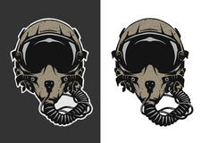 Fighter Pilot Helmet. Fighter Pilot Helmet for dark and white background. Vector illustration Royalty Free Stock Photography