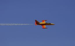 Fighter Plane. In the sky royalty free stock image