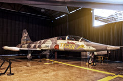 Fighter plane in the cargo Stock Images