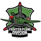 Fighter plane division badge. Vector of  fighter plane division badge Royalty Free Stock Photo