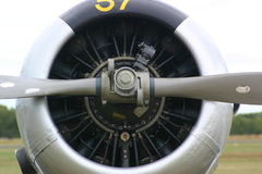 Fighter Plane Engine. Engine of a second world war fighter Stock Photos