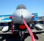 Fighter plane. In an exhibition in Le Bourget near Paris in France Stock Photos
