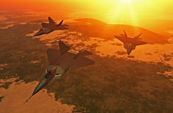 Fighter Plane Formation Stock Photography