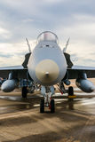 Fighter plane front part detail Royalty Free Stock Images