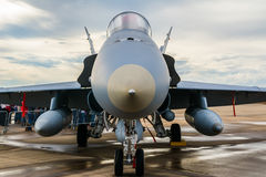 Fighter plane front part detail Royalty Free Stock Photo