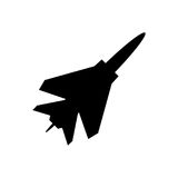 Fighter plane icon. Simple vector icon Stock Photos