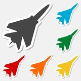 Fighter plane icons set. Fighter plane icon, simple vector icon Stock Photography
