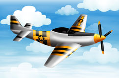 A fighter plane. Illustration of a fighter plane Stock Photo