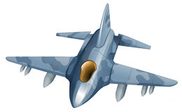 A fighter plane. Illustration of a fighter plane on a white background Stock Photos