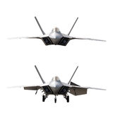 Fighter Plane Isolated In 2 Positions Royalty Free Stock Images