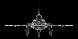 Fighter Plane. Model, body structure, wire model Stock Photos