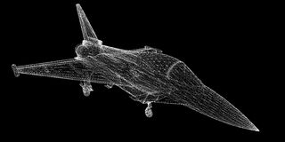 Fighter Plane. Model, body structure, wire model Royalty Free Stock Photography