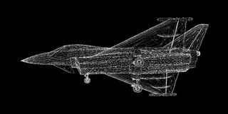 Fighter Plane. Model, body structure, wire model Stock Images