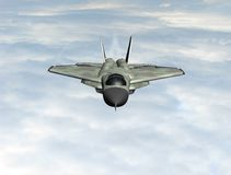 Fighter plane in the sky Royalty Free Stock Photos