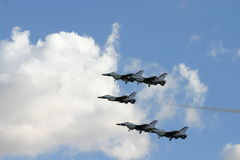 Fighter Planes. Flying together in the sky stock photos