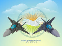 Fighter planes for Indian Independence Day. Royalty Free Stock Photos