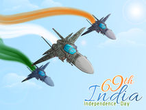 Fighter planes for Indian Independence Day. Stock Images
