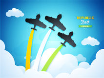 Fighter Planes for Indian Republic Day celebration. Royalty Free Stock Photo