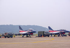 Fighter planes on the tarmac Stock Image