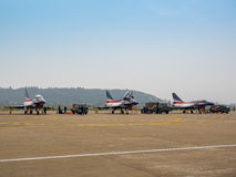 Fighter planes on the tarmac Royalty Free Stock Photo