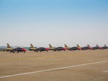 Fighter planes on the tarmac Royalty Free Stock Images