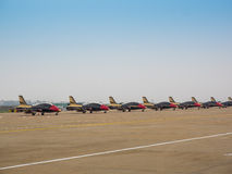 Fighter planes on the tarmac Royalty Free Stock Photography