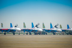 Fighter planes on the tarmac Stock Photography