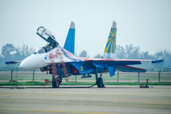Fighter planes on the tarmac Royalty Free Stock Image