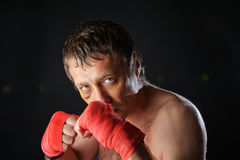Fighter portrait. Royalty Free Stock Photo