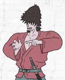 Fighter samurai Stock Images