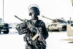Fighter special squad quick response stock images