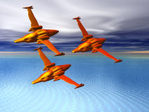 Fighter Squadron. In formation Stock Image