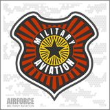 Fighter squadron airforce - military aviation. Vector illustration Royalty Free Stock Photos