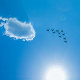 Fighter Squadron on parade in Moscow Stock Images