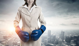 She is fighter for success royalty free stock images